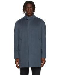 Loro Piana Blue Cashmere Turati Coat