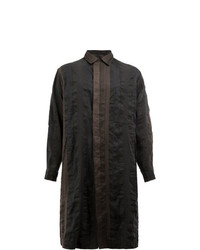 Uma Wang Button Up Coat Blue