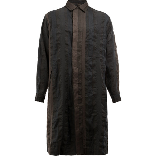 Uma Wang Button Up Coat Blue