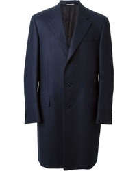 Canali Classic Checkered Pattern Coat