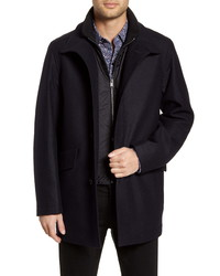 BOSS Coxtan Wool Blend Coat With Insert