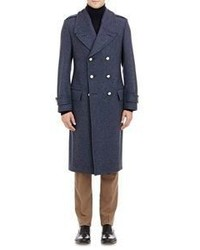 Crombie Double Breasted The Great Authentic Coat Blue