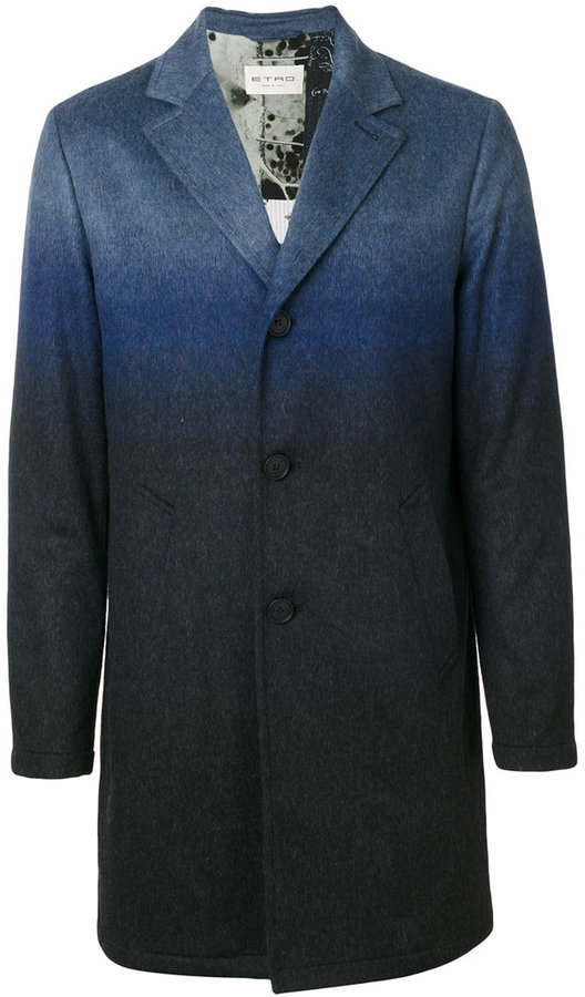 Etro Degrad Single Breasted Coat