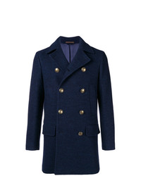 Eleventy Double Breasted Fitted Coat