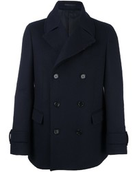 Z Zegna Double Breasted High Neck Coat