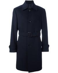 Ermenegildo Zegna Belted Single Breasted Coat