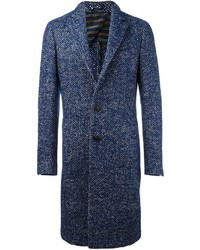 Etro Single Breasted Boucle Coat