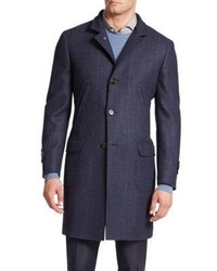 Brunello Cucinelli Glen Plaid Wool Overcoat