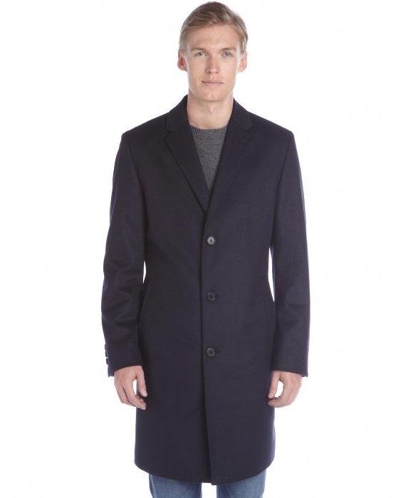 hugo boss dark blue wool cashmere the stratus5 overcoat. Black Bedroom Furniture Sets. Home Design Ideas
