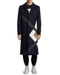 MSGM Long Geometric Overcoat
