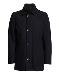 Vince Camuto Melton Car Coat With Removable Bib