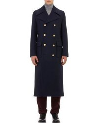 Valentino Nautical Inspired Double Breasted Overcoat