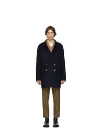 Nanushka Navy Aiden Coat