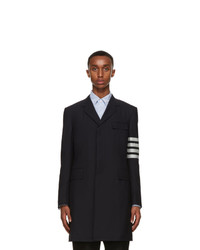 Thom Browne Navy Wool 4 Bar Suiting Coat
