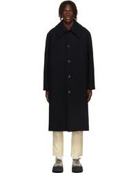 Jil Sander Navy Wool Coat