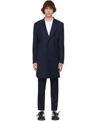 Comme Des Garcons Homme Plus Navy Wool Gabardine Coat