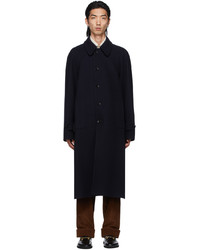 Gucci Navy Wool Loden Coat