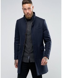 Ted Baker Overcoat With Funnel Neck