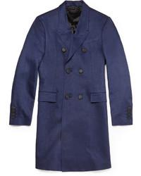 Burberry Prorsum Slim Fit Linen Overcoat