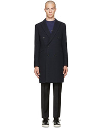 Paul Smith Ps By Navy Double Breasted Coat