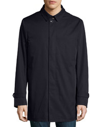 Neiman Marcus Single Breasted Trench Coat Navy