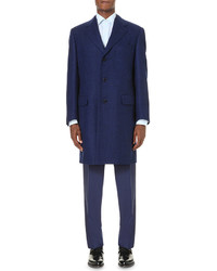 Canali Single Breasted Wool Overcoat