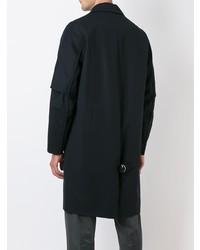 Oamc Stitching Detail Coat Blue