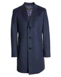 BOSS Stratus Virgin Wool Cashmere Overcoat