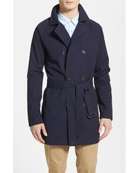 Topman Double Breasted Trench Coat X Small
