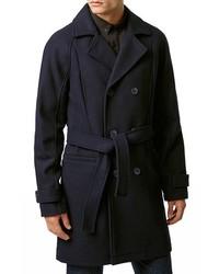 Topman Wool Blend Trench Coat