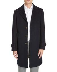 Eleventy Trim Fit Wool Cashmere Car Coat