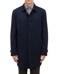 Luciano Barbera Twill Topcoat Blue