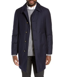 Hickey Freeman Wool Blend Down Feather Coat