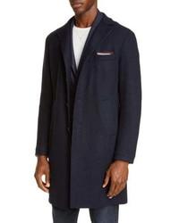 Eleventy Wool Blend Flannel Coat