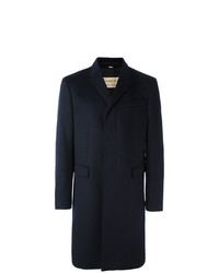 Burberry Wool Cashmere Tailored Coat Blue
