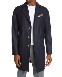 Eleventy Wool Cashmere Twill Overcoat