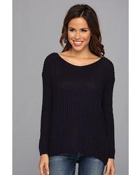 Allen Allen Ls V Neck Sweater