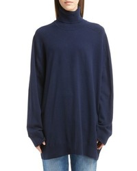 Oversized cashmere turtleneck sweater medium 4423290