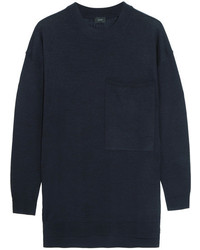 Oversized merino wool sweater navy medium 4413229