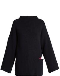 Oversized wool and silk blend sweater medium 891883