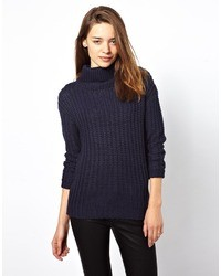 Vila Roll Neck Knitted Sweater