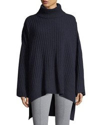 Soft ribbed wool poncho medium 5146907