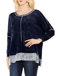 Vince Camuto Two By Inside Out Printed Sweater