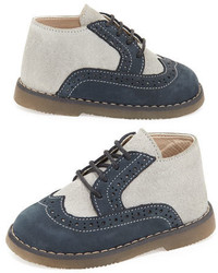 Babywalker Leather Two Tone Oxford Grayblue Toddler