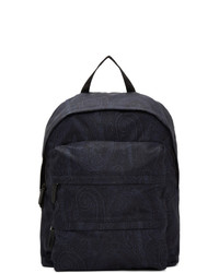Etro Navy Paisley Backpack