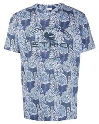 Etro Paisley Print Cotton T Shirt