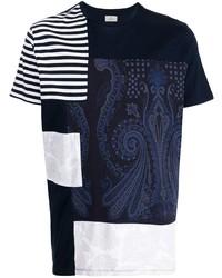 Etro Stripe Panelled Cotton T Shirt