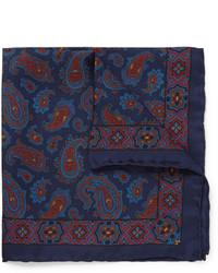 Drakes paisley silk pocket square medium 401708