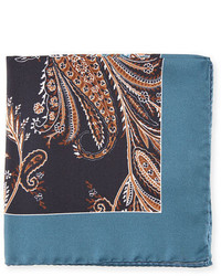 Eton Grass Paisley Pocket Square