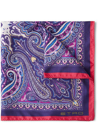 Paisley print silk pocket square medium 255874